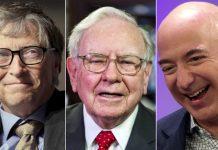 Bill Gates, Warren Buffett, Jeff Bezos © Reuters