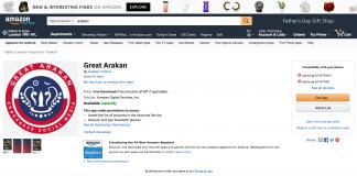 Great Arakan App at Amazon