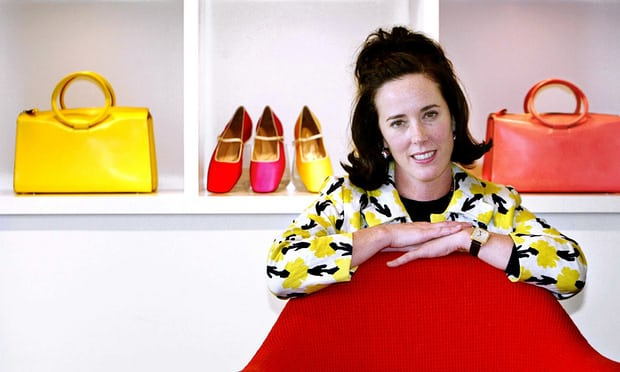 Kate Spade posing with her shoes and handbags in 2004. Photograph- Bebeto Matthews:AP