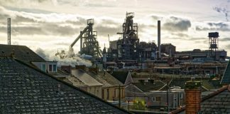 The Port Talbot steel works in Wales are the biggest in Britain. Photograph- Dimitris Legakis for the Guardian