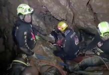 Rescuers in the Tham Luang cave complex in Thailand © Facebook/Anyawut Pho-Ampa / Reuters