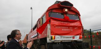 The first Zhengzhou-Liege cargo train leaves Liege, Belgium © Global Look Press / Zheng Huansong