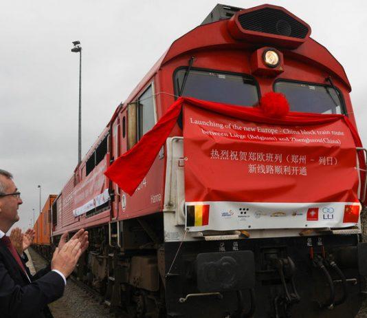 The first Zhengzhou-Liege cargo train leaves Liege, Belgium © Global Look Press / Zheng Huansong