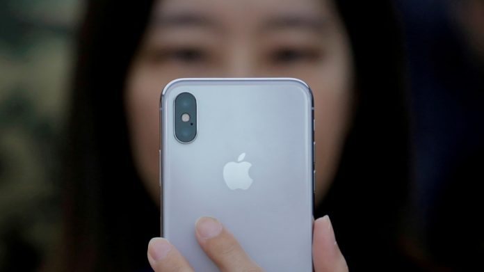 iPhone X presentation in Beijing, China October 31, 2017. © REUTERS/Thomas Peter