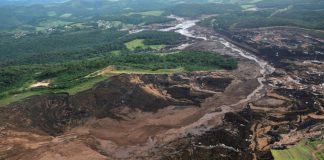 View from above of a dam owned by Brazilian miner Vale SA that burst, in Brumadinho, Brazil January 25, 2019. © Reuters / Washington Alves