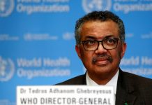 Director General of the World Health Organization (WHO) Tedros Adhanom Ghebreyesus. © Reuters/Denis Balibouse